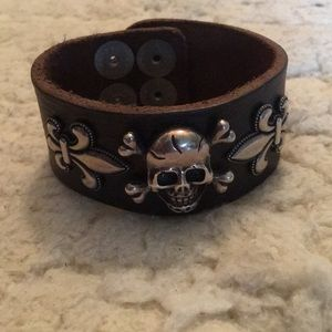 Jewelry - Power Leather & Sterling Silver Cuff Bracelet